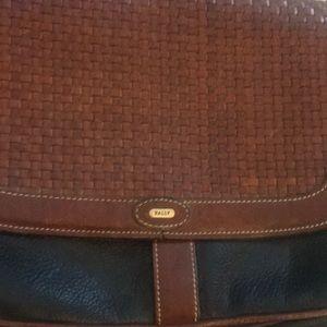 Bally Bags - Vintage Bally Black and Brown Crossbody Bag